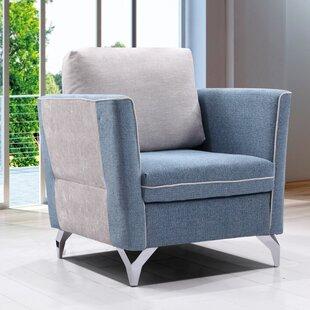 Brayden Studio Kalypso Fabric Modern Living Room Armchair
