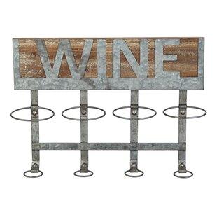 August Grove Owes 4 Bottle Wall Mounted Wine Bottle Rack
