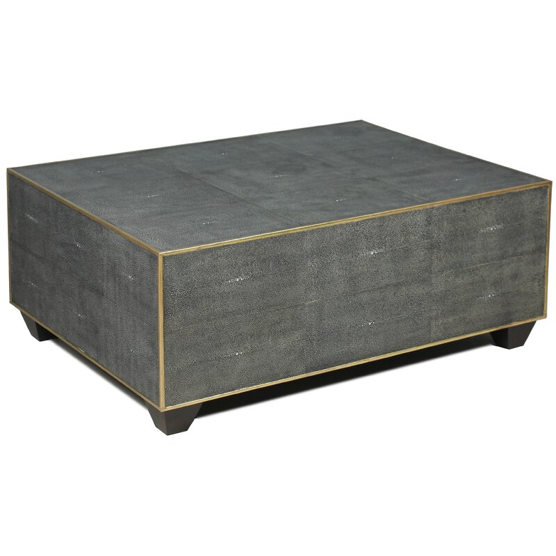 Ordinaire Tressie Leather Shagreen Coffee Table