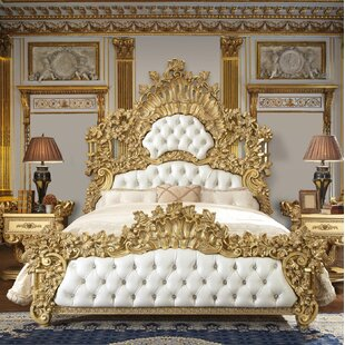 Medora Luxurious Traditional Upholstered Panel Bed