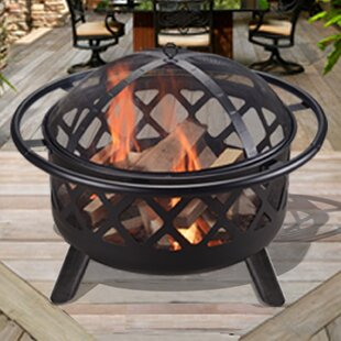 Peaktop Outdoor Round Steel Wood Burning ..