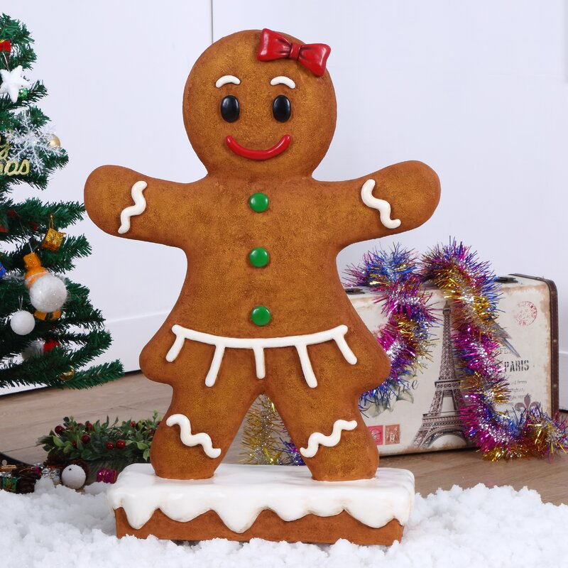 Gingerbread Girl Oversized Figurine