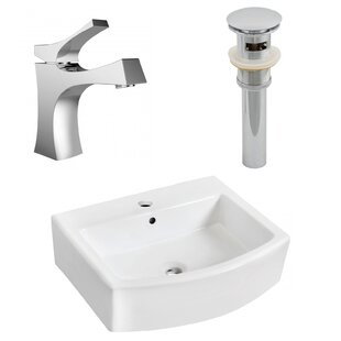 Compare Ceramic Rectangular Bathroom Sink with Faucet and Overflow ByAmerican Imaginations