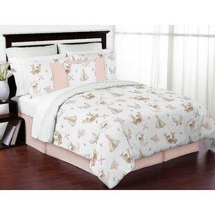 Deer Floral Comforter Set