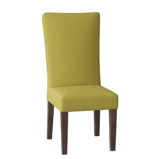 Kristen Upholstered Parsons Chair Set of 2 by Uniquely Furnished