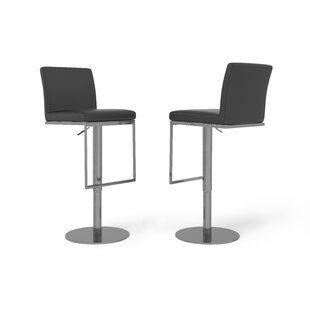 Enzo Height Adjustable Swivel Bar Stool By Wade Logan
