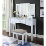Kuebel Vanity Set with Stool and Mirror by Red Barrel Studio®