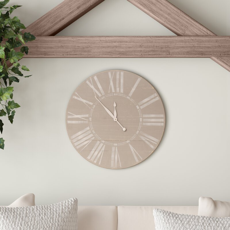 Ophelia Co Oversized Wall Clock Reviews Wayfair
