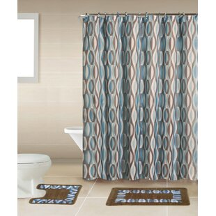 Rosella 15-Piece Shower Curtain Set by Ebern Designs