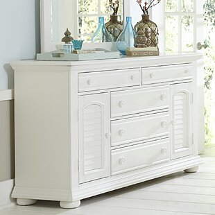 Breakwater Bay Landenberg 5 Drawer Combo Dresser with Mirror