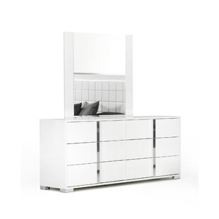 Demaria 6 Drawer Double Dresser with Mirror