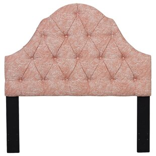 Maximilian Shaped Camel Back Upholstered Panel Headboard