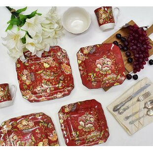 Gabrielle 16 Piece Dinnerware Set, Service for 4