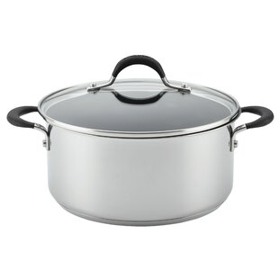 Momentum™ 5-Quart Covered Stainless Steel Non-Stick Round Dutch Oven with Lid