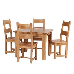 Maddison Extendable Dining Set With 4 Chairs By Union Rustic