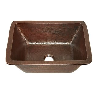 Sinkology Hawking Metal Rectangular Undermount Bathroom Sink