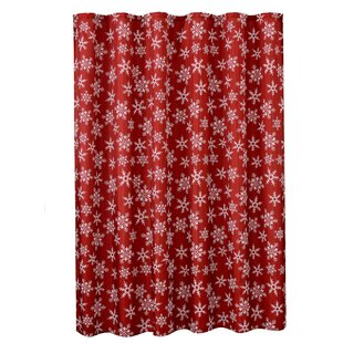 Pullen Decorative Christmas Printed Snowflakes Design Single Shower Curtain