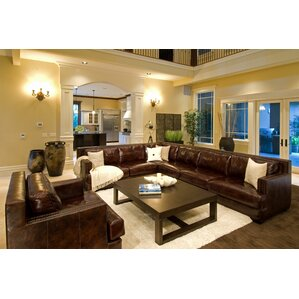 Easton Leather Sectional by El..
