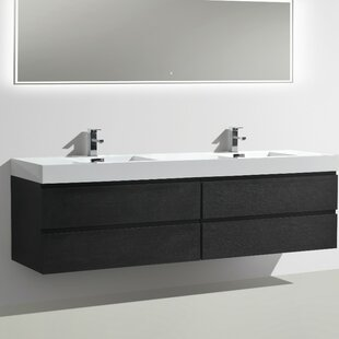 Leni 79 Wall-Mounted Double Bathroom Vanity Set By Orren Ellis