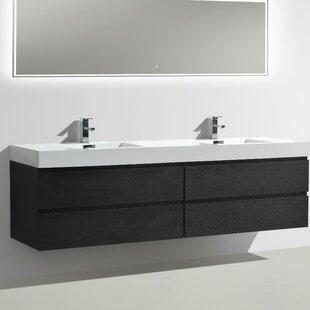MOF 79 Wall-Mounted Double Bathroom Vanity Set by Morenobath