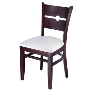 Benkel Seating Coinback Side Chair in Faux Leather - Cream White (Set of 2)