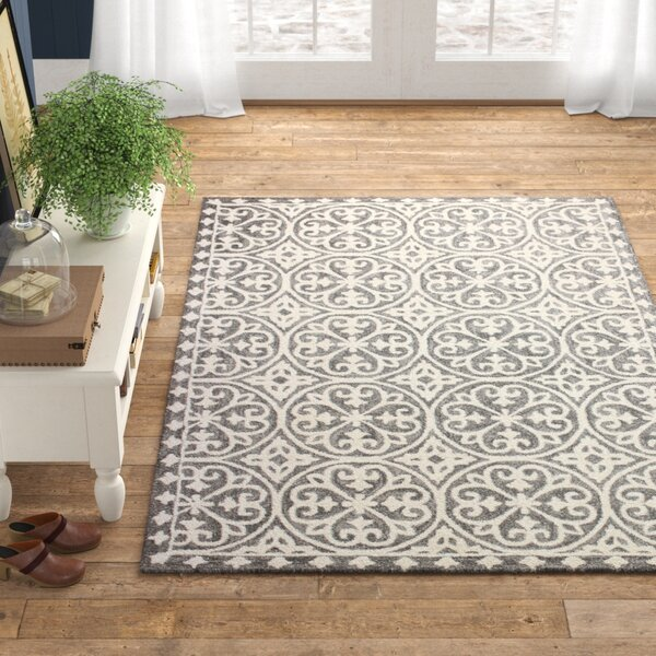 Herman Hand Tufted Wool Gray Area Rug Reviews Birch Lane