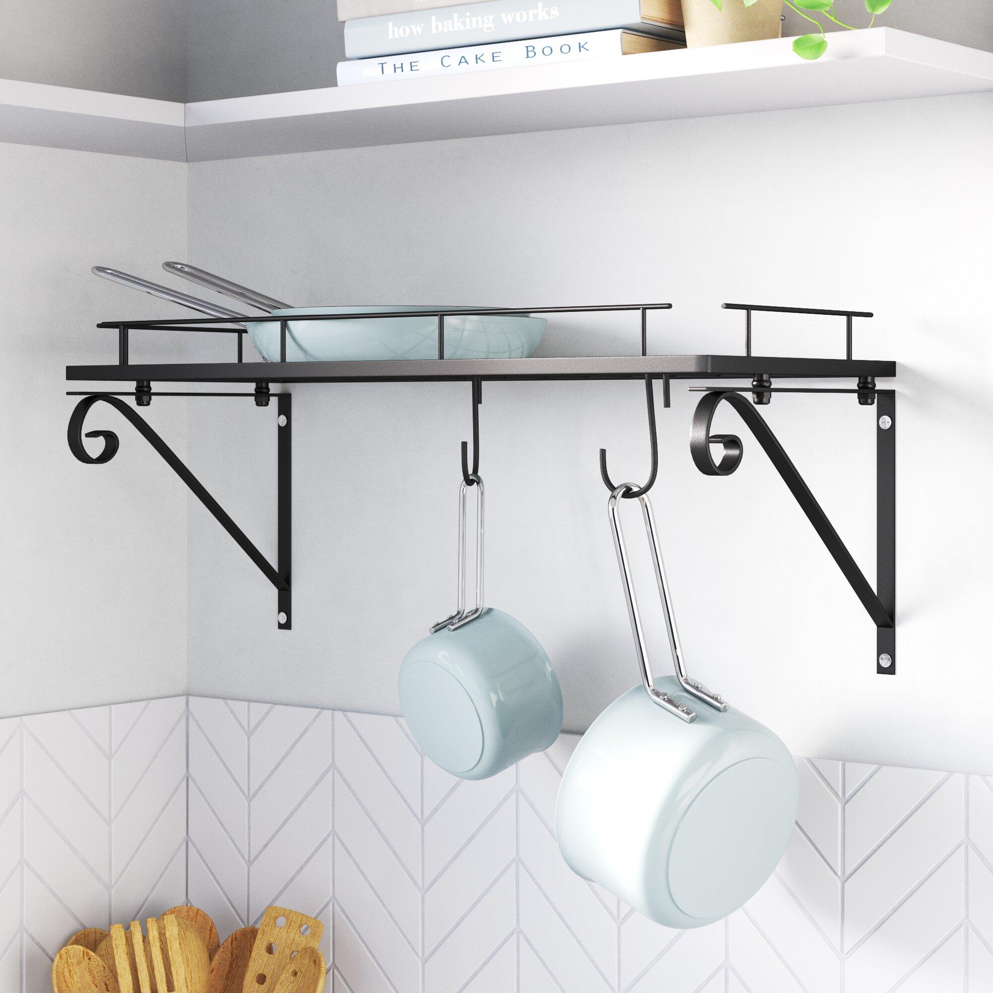 Rebrilliant Kitchen Wall Mounted Pot Rack Reviews Wayfair