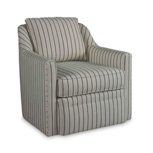 Hollins 360 Degree Swivel Accent Armchair by Rowe Furniture