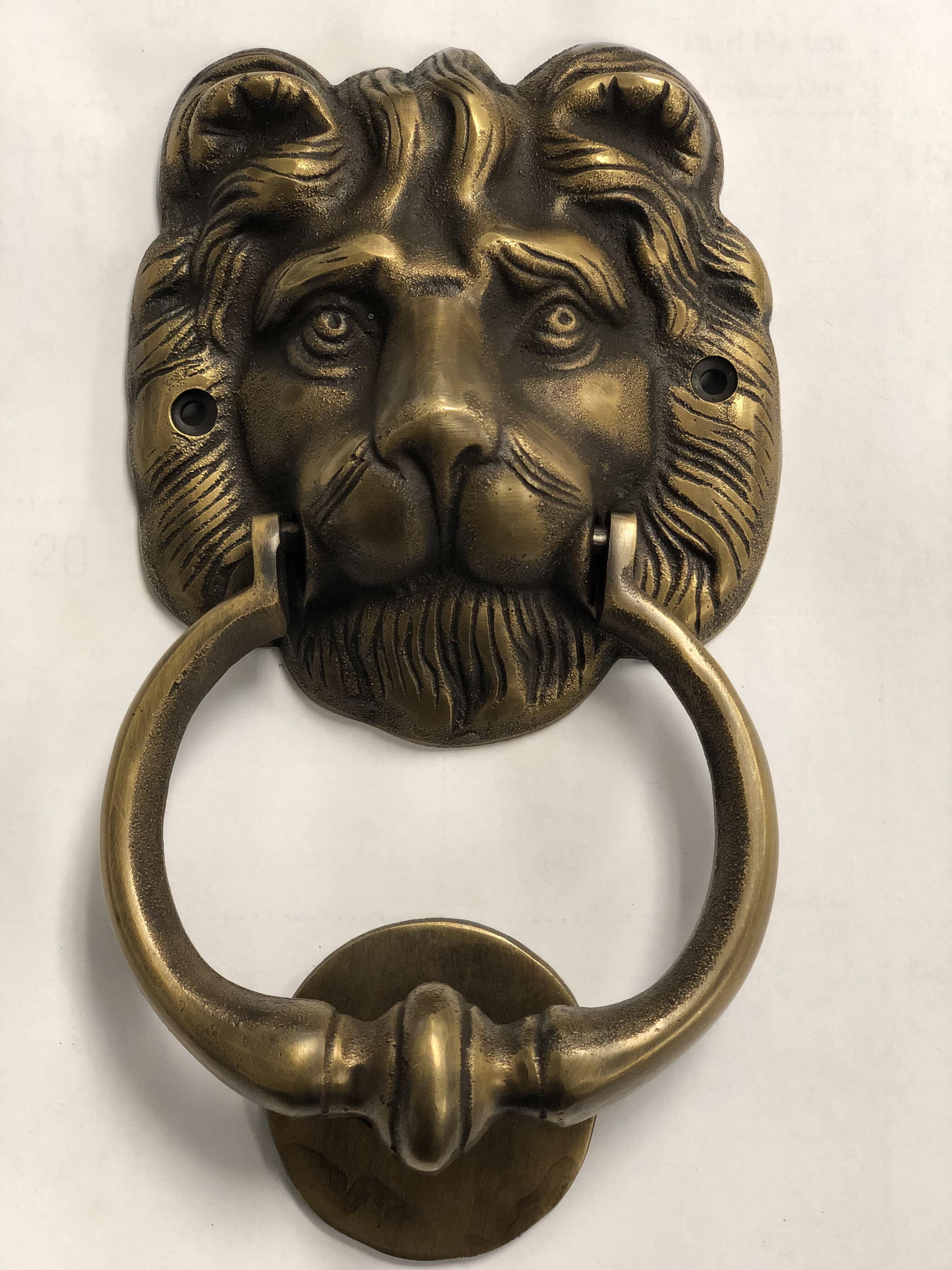 Bro Lion Head Door Knocker