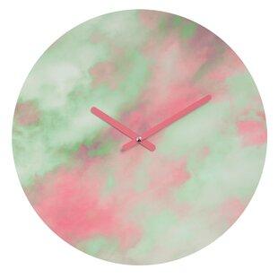 Caleb Troy Pastel Christmas Wall Clock by Deny Designs