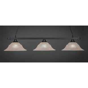 Yarbrough 3-Light Billiard Pendant by Red Barrel Studio