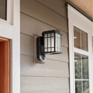 Maximus Smart Security with Camera 1-Light Outdoor Wall Lantern