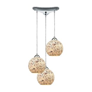 Brigham 3-Light Cascade Pendant by World Menagerie