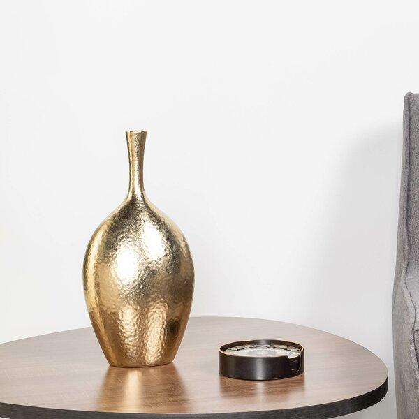 Wrought Studio Kuba Dimpled Handmade Ceramic Table Vase Reviews Wayfair