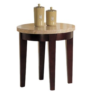 Mattoon Round Wooden End Table