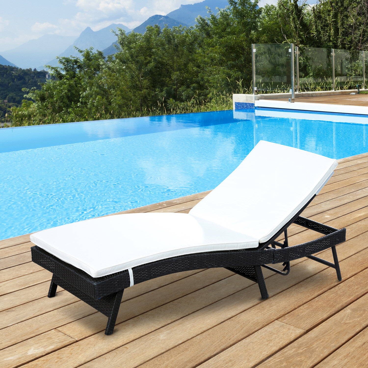 lounge pool com chaise wicker outdoor lloyd flanders