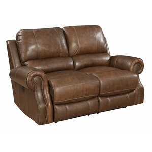 Red Barrel Studio RDBT5730 Crete Power Motion Leather Reclining Loveseat