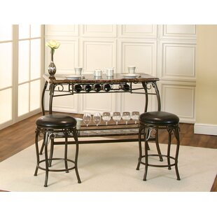 Tekamah 3 Piece Pub Table Set Fleur De Lis Living