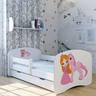 Princess Unicorn Bed With Mattress And Drawer By Zoomie Kids