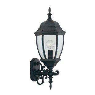 Price comparison Thornhill 1-Light Glass Shaded Outdoor Wall lantern By Three Posts