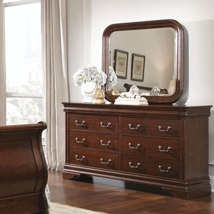 Alcott Hill Raina 6 Drawer Double Dresser with Mirror