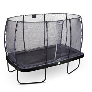 Elegant Backyard Above Ground Trampoline With Safety Enclosure By Exit Toys