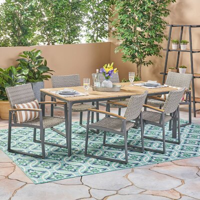 Mabie 7 Piece Dining Set by Williston Forge Discount