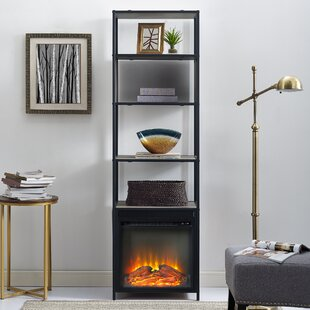 Kole Standard Bookcase with Fireplace