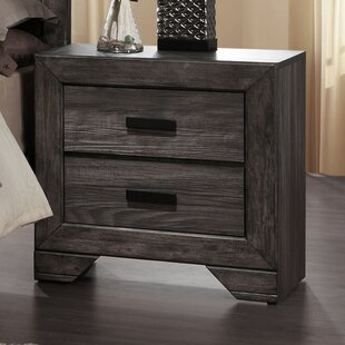 Union Rustic Raven 2 Drawer Nightstand