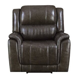 Guineau Leather Power Recliner Red Barrel Studio