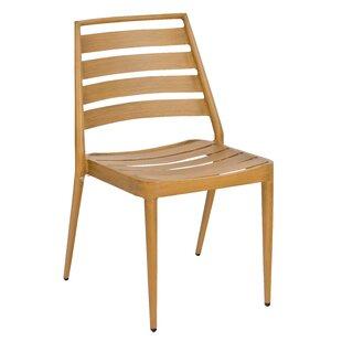 Daytona Slat Stacking Patio Dining Chair (Set of 4)