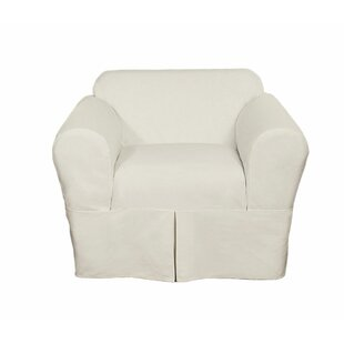 Twill Box Cushion Chair Slipcover