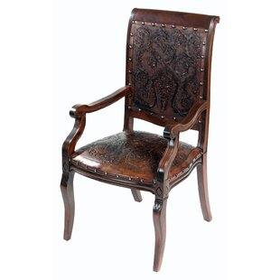 Colonial Imperial Leather Armchair (Set of 4) by New World Trading