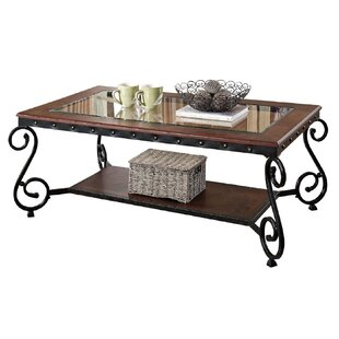 Fruitvale Tempered Glass Top Coffee Table